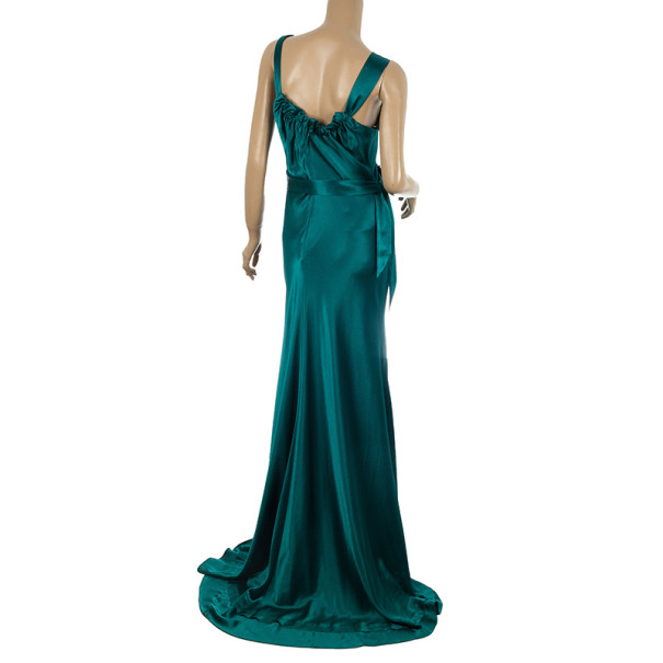 Vera Wang Flowing Satin Evening Gown M