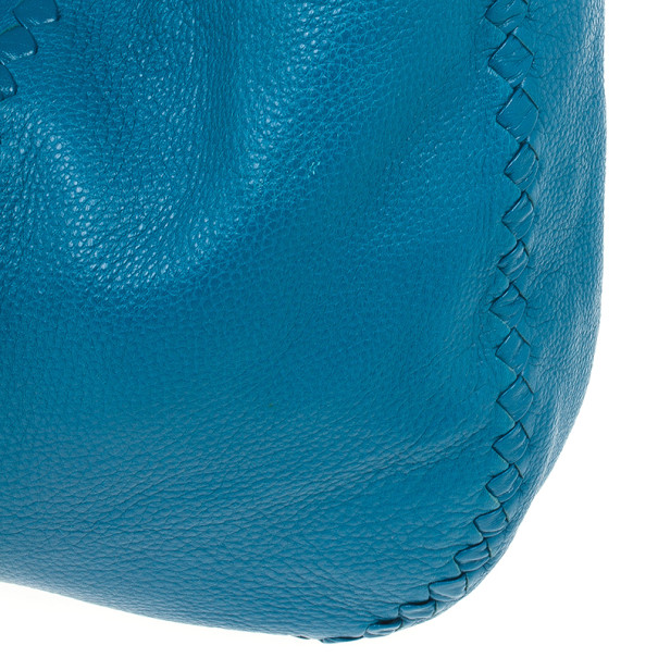 Bottega Veneta Large Turquoise Washed Cervo Leather Hobo