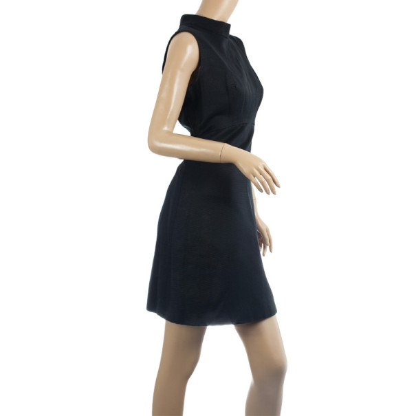 Dolce and Gabbana High Collar Black Dress M