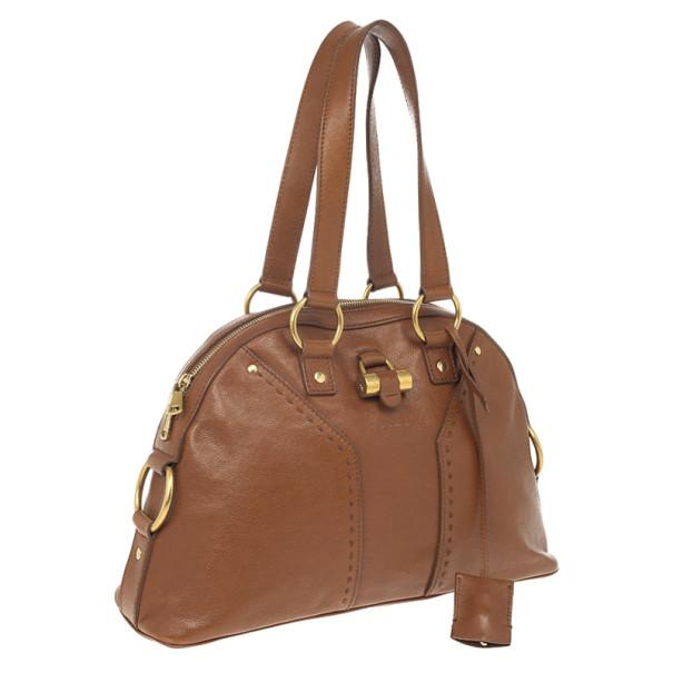 Yves Saint Laurent Brown Leather Medium Muse Bag
