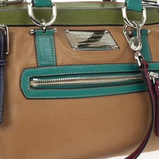 Dolce and Gabbana Miss Easy Way Multicolor Boston Bag