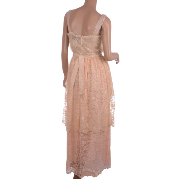 D&G Creme Lace Tiered Dress S