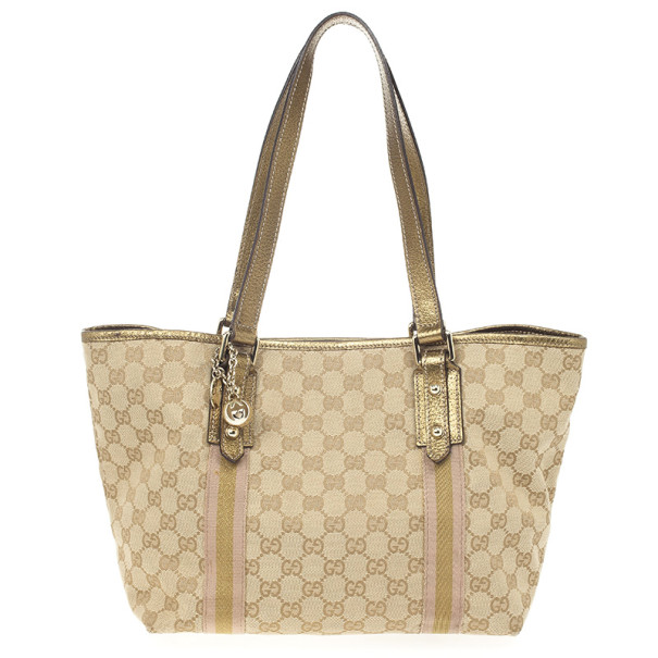 Gucci Beige GG Jolicoeur Medium Tote Bag