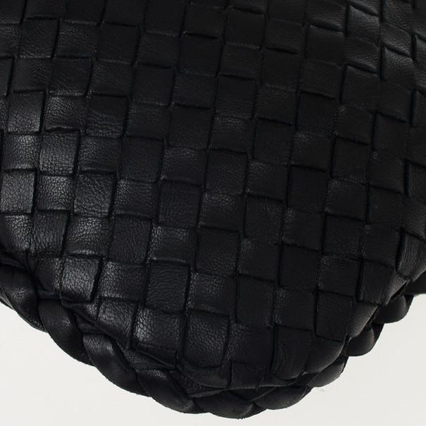 Bottega Veneta Black Intrecciato Hobo