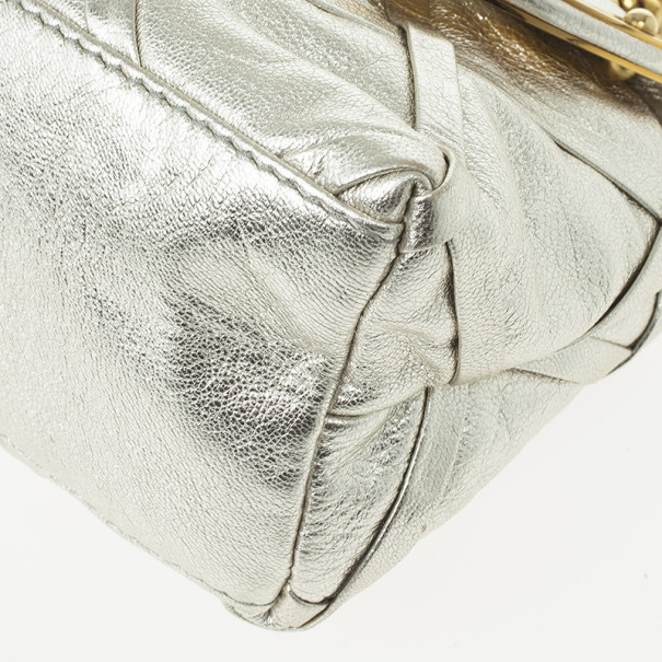 Dolce and Gabbana Silver Miss Camp Shoulder Bag
