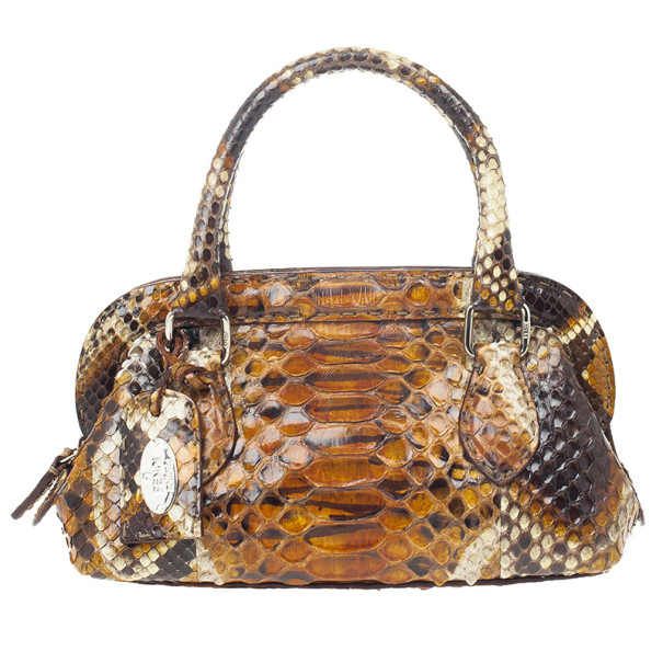 Fendi Python Framed Mini Doctor Bag
