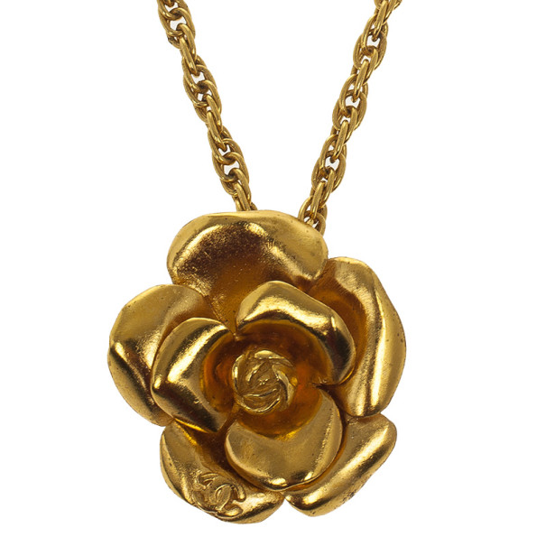 Chanel Vintage Camelia Necklace