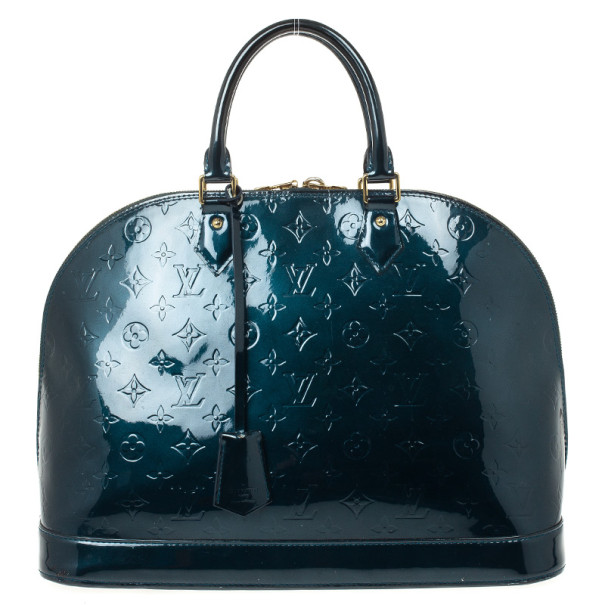 Louis Vuitton Monogram Vernis Bleu Nuit Alma GM