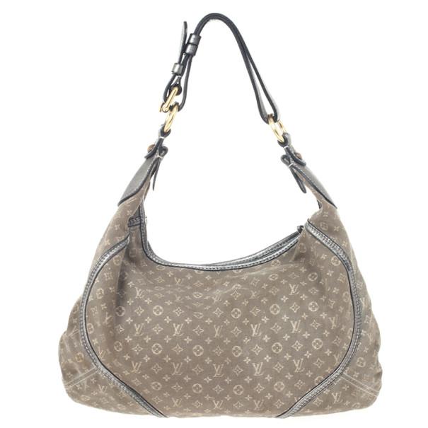 Louis Vuitton Platine Mini Lin Manon MM Hobo Handbag