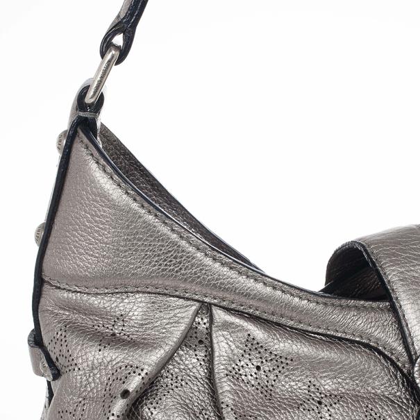 Louis Vuitton Argent Monogram Mahina Leather Surya XS Bag