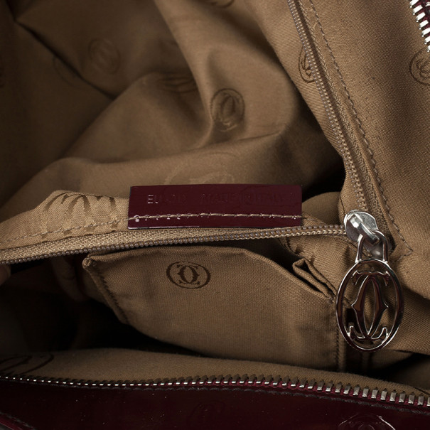 Cartier Red Patent Leather Marcello De Cartier Bag