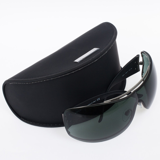 Bvlgari Black Shield Mask Woman Sunglasses