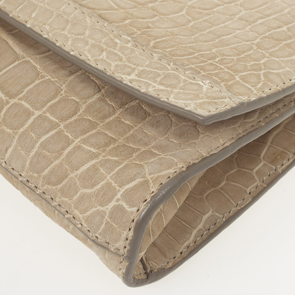 Burberry Alligator Clutch Bag