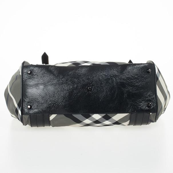Burberry Beat Check Nylon Tote Bag