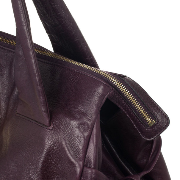 Gucci Purple Leather 'Hysteria' Large Tote
