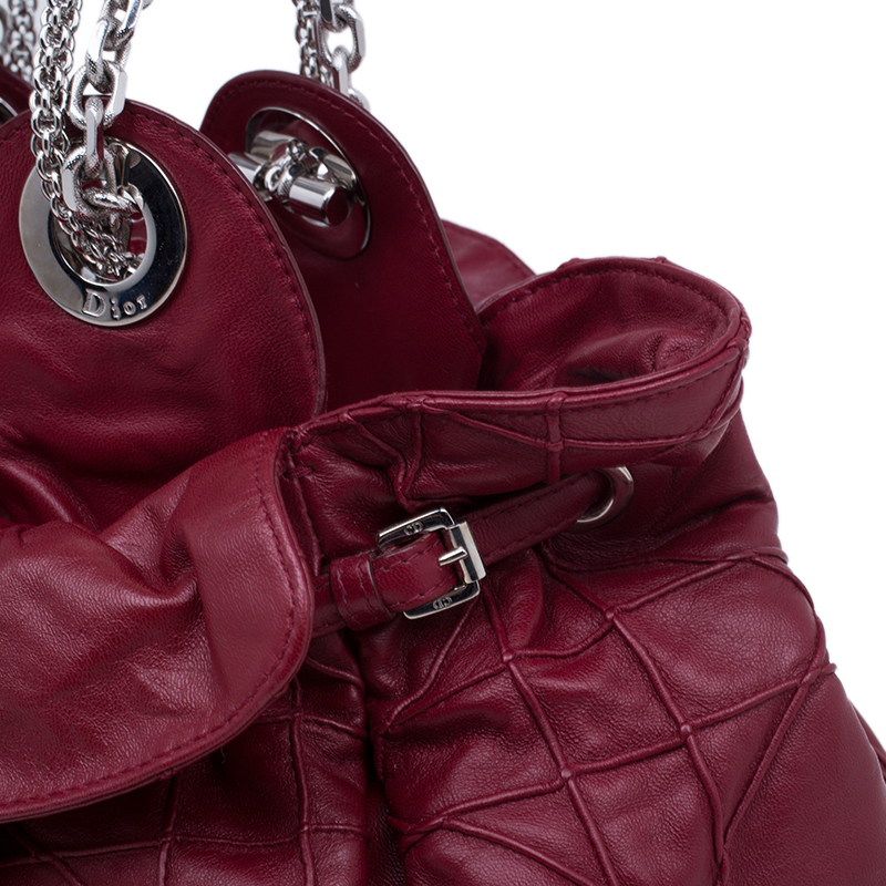 Dior Red Lambskin Cannage Le Trente Hobo