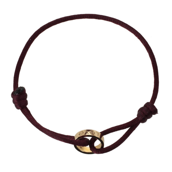 Cartier Love Charity Gold and Diamond Bracelet with Silk Cord