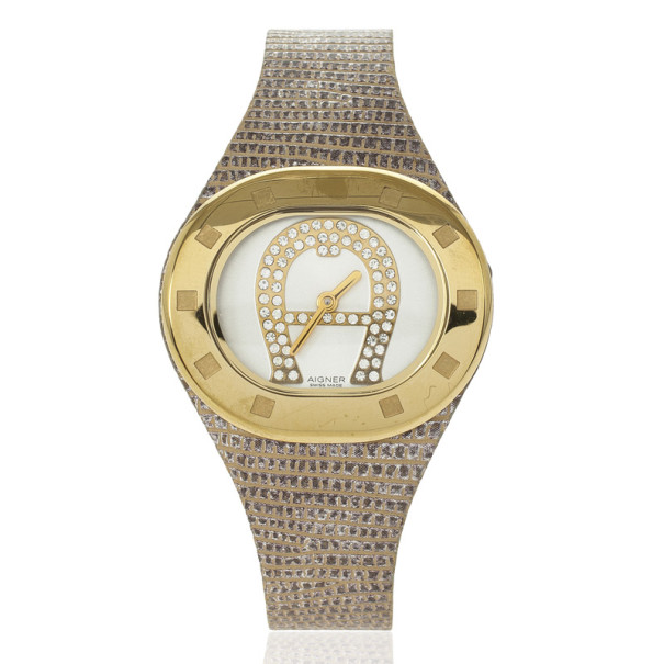 Aigner Gold Plated Stainless Steel Women Watch 34 MM