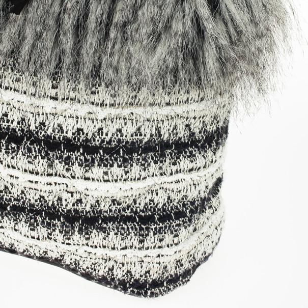 Chanel Inuit Tweed Fantasy Fur Tote