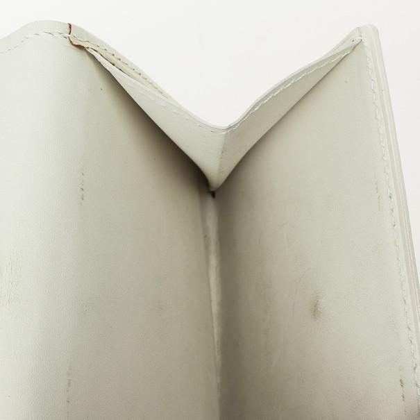 Louis Vuitton White Monogram Vernis Elise Wallet