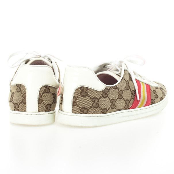 Gucci Guccissima Canvas Web Detail Sneakers Size 37