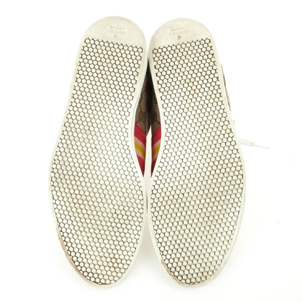 Gucci Guccissima Canvas Web Detail Sneakers Size 37