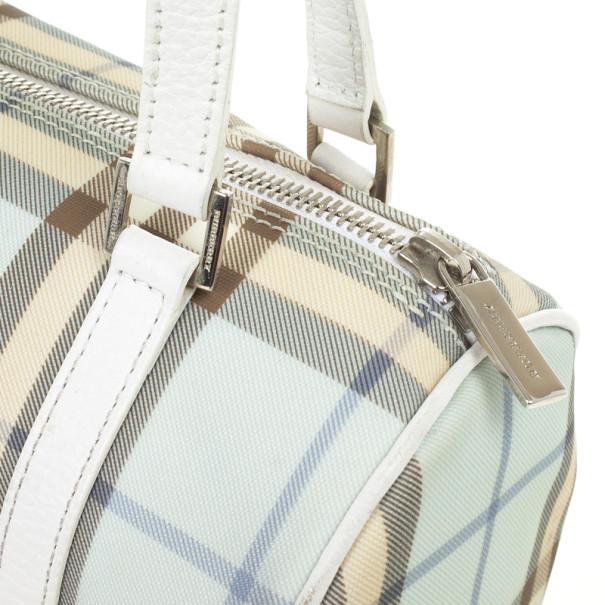 Burberry Blue Nova Check Lola Barrel Bag