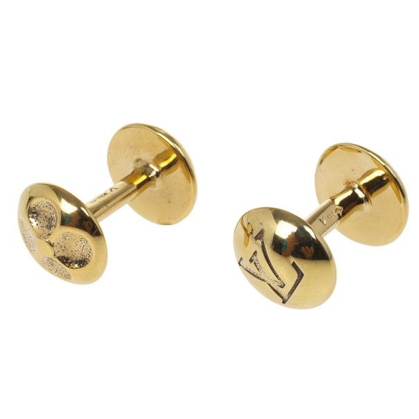 Louis Vuitton Gold Plated Cufflinks