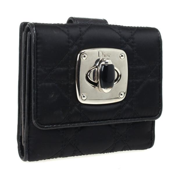 Dior Black Charming Lock Compact Wallet
