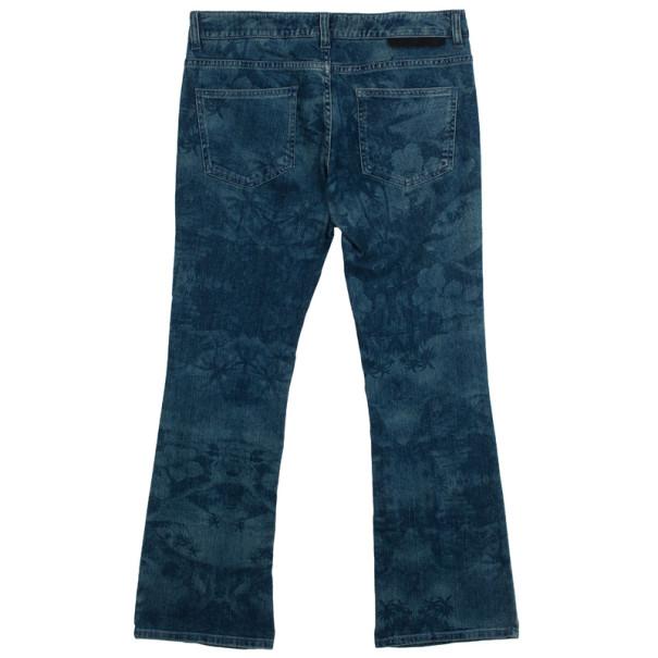 Stella McCartney Hibiscus Print Denim Jeans M