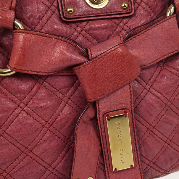 Marc Jacobs Pink Bruna Quilted Leather Tote
