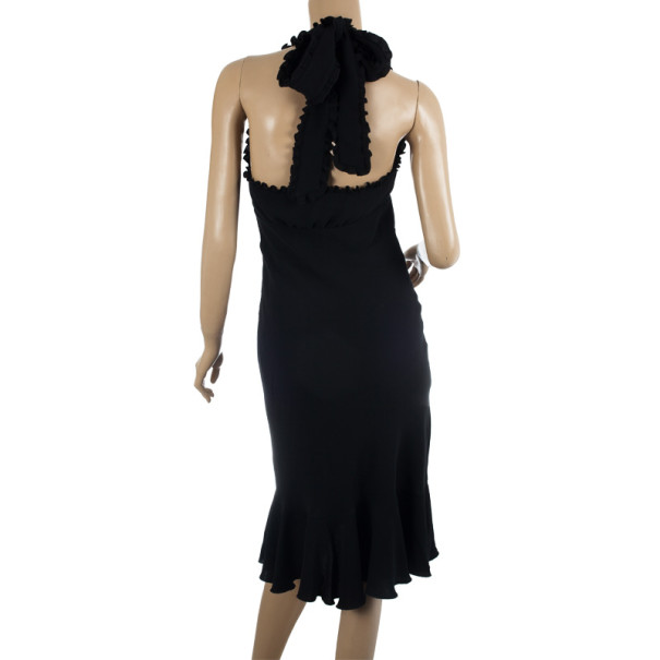 RED Valentino Frill Black Dress M