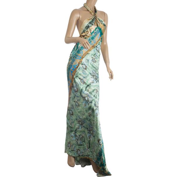 Roberto Cavalli Satin Maxi Dress S