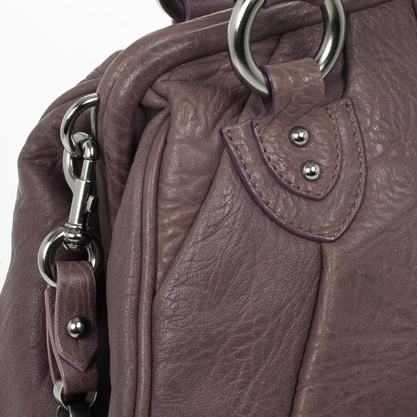 Marc Jacobs Lilac Pleated Leather Stam