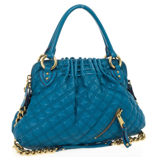 Marc Jacobs Blue Quilted Calf Leather Cecilia Bag