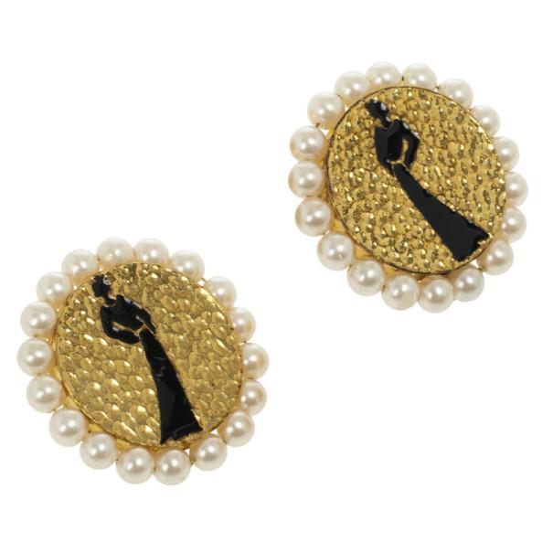 Chanel Mademoiselle Vintage Earrings
