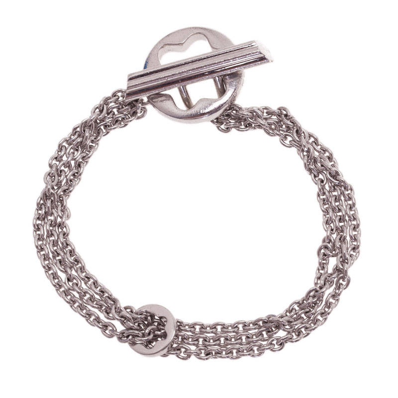 Montblanc Caress Of A Star Silver Chain Bracelet