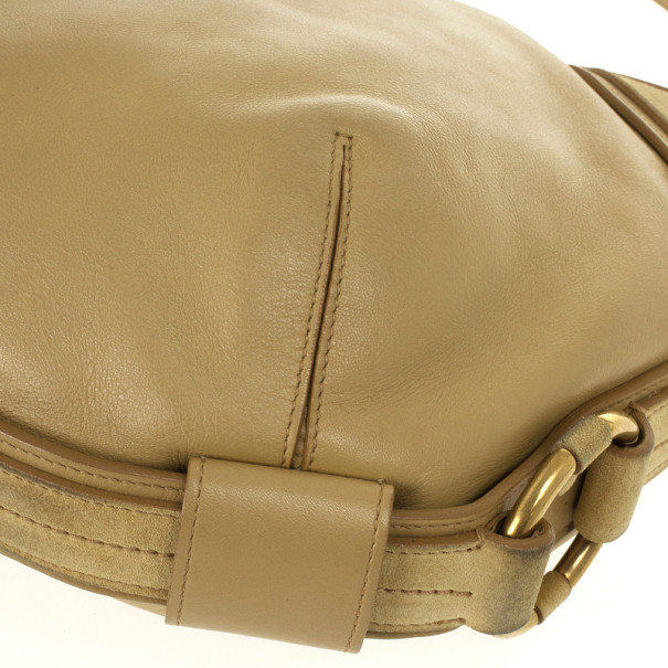 Saint Laurent Paris Beige Leather Muse Hobo Bag