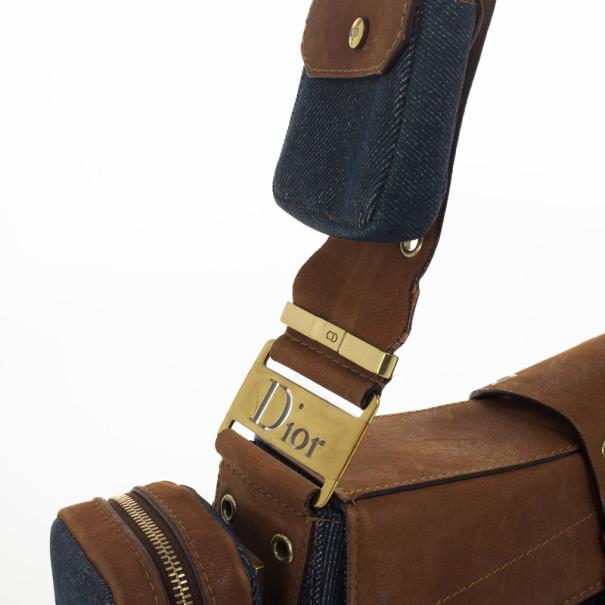 Christian Dior Denim Street Chic Shoulder Bag