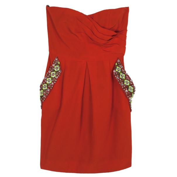 Matthew Williamson Valencia Embellished Cotton-blend Dress M