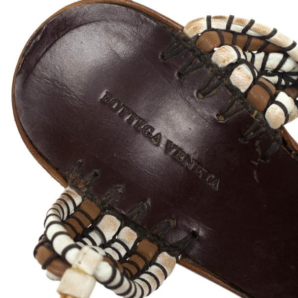 Bottega Veneta Strappy Ankle Wrap Sandals Size 40