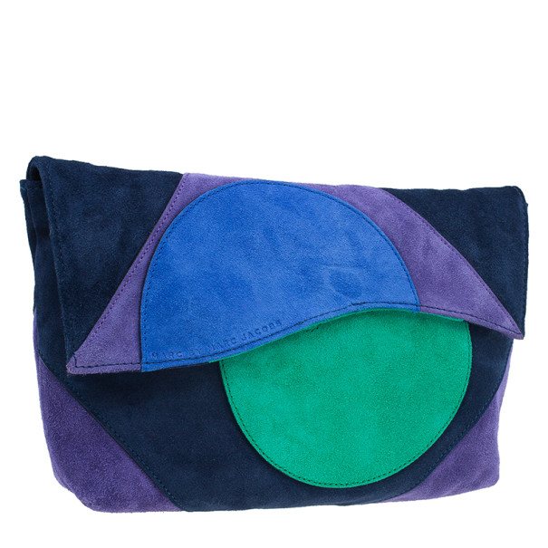 Marc by Marc Jacobs Multicolor Suede Etta Patchwork Clutch