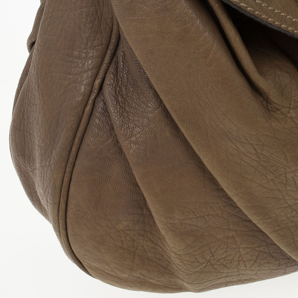 Dolce and Gabbana Pebble Leather Slouchy Large Hobo
