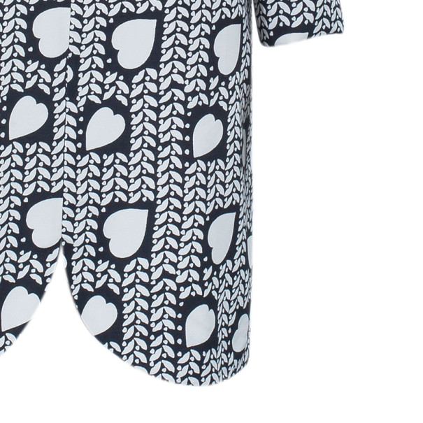 Stella McCartney Heart Monochrome Print Shift Dress M