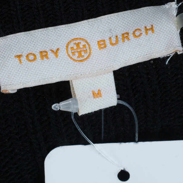 Tory Burch Etta Embellished Knit Sweater M