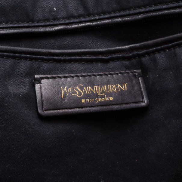 Saint Laurent Paris Patent Teal Large Muse Bag