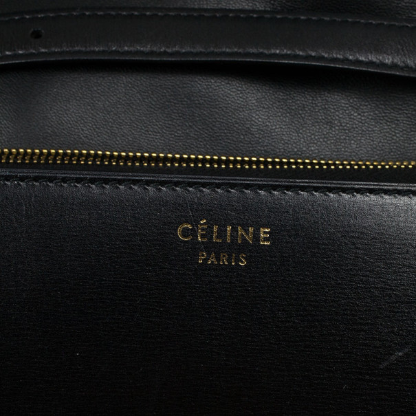 Celine Black Leather Medium Box Shoulder Bag