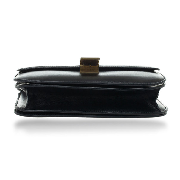 Celine Black Leather Medium Box Shoulder Bag