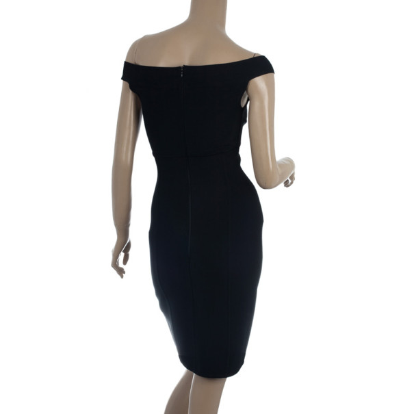 Herve Leger Signature Black Dress L