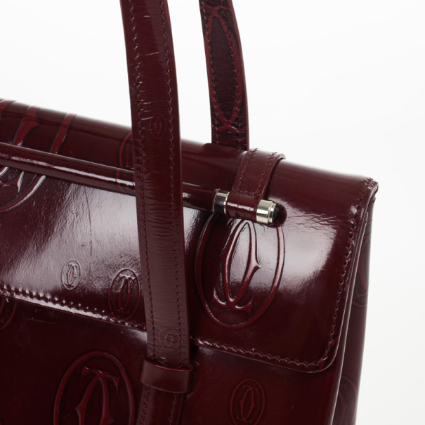 Cartier Bordeaux Happy Birthday Cabochon Flap Bag